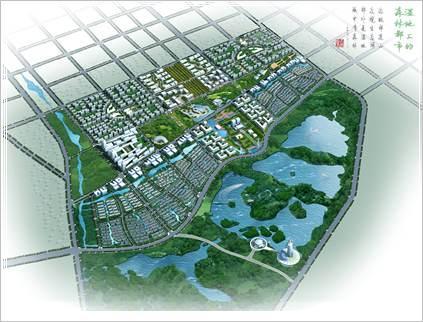 张掖市滨河新区城市设计
